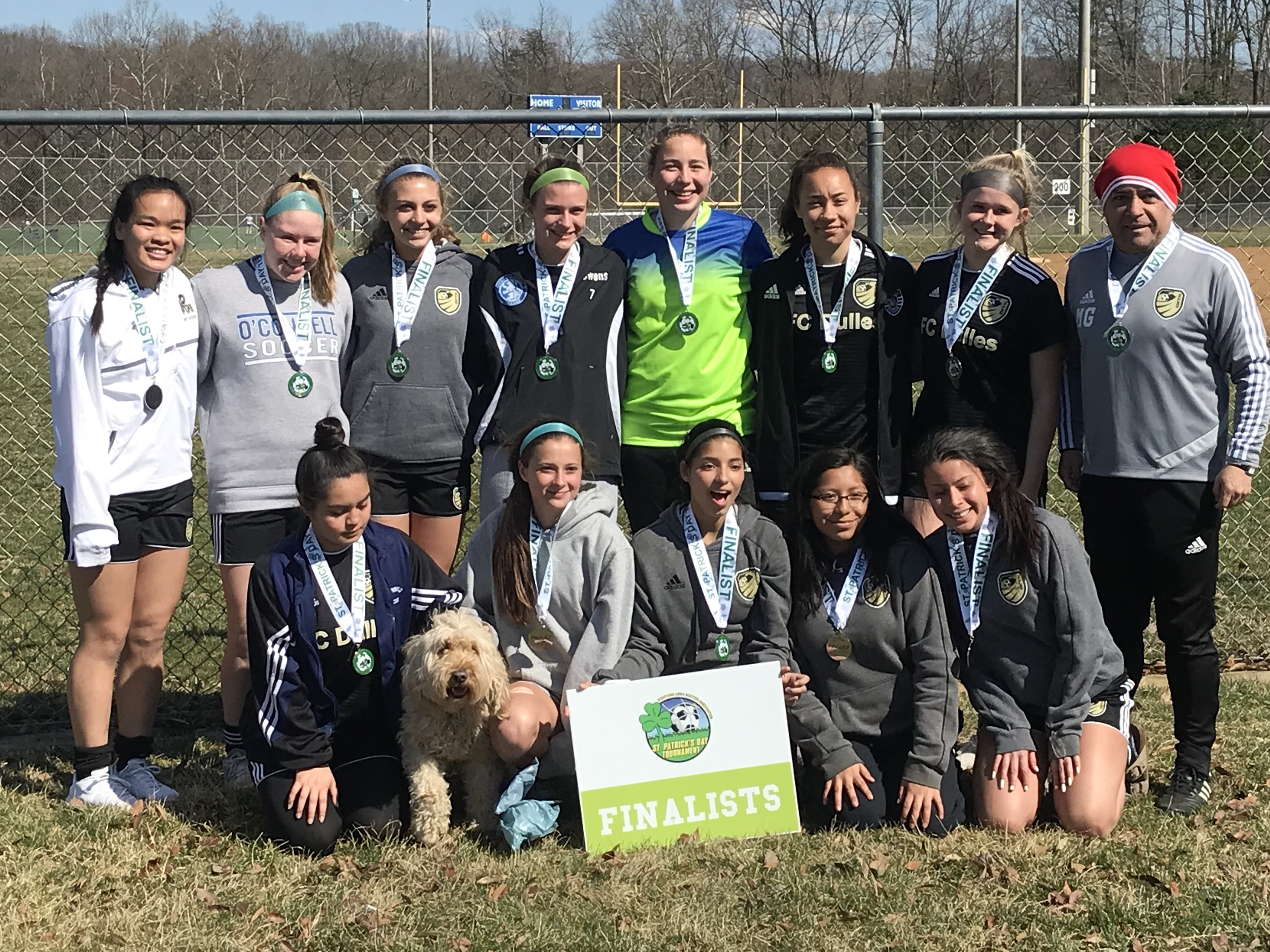 U16 Girls Finalists at St. Paddy's Day Tournament