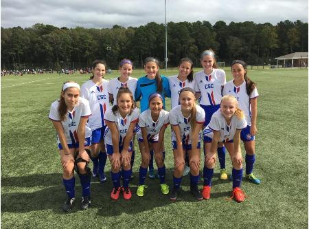 CSC Internationals in action at the VYSA President's Cup